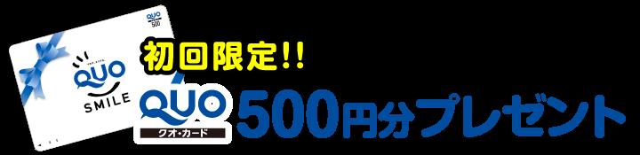 初回限定!!QUOカード500円分 プレゼント